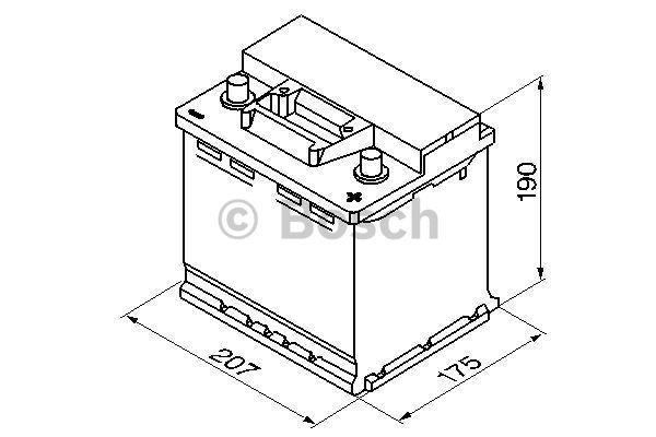 Батарея аккумуляторная Bosch S3 002 12В 45Ач 400A(EN) R+ Bosch 0 092 S30 020 - фото 5