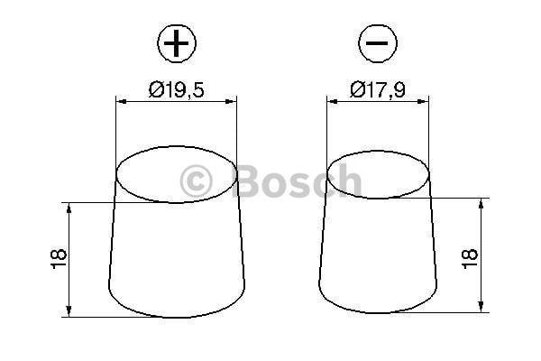 Батарея аккумуляторная Bosch S3 002 12В 45Ач 400A(EN) R+ Bosch 0 092 S30 020 - фото 6