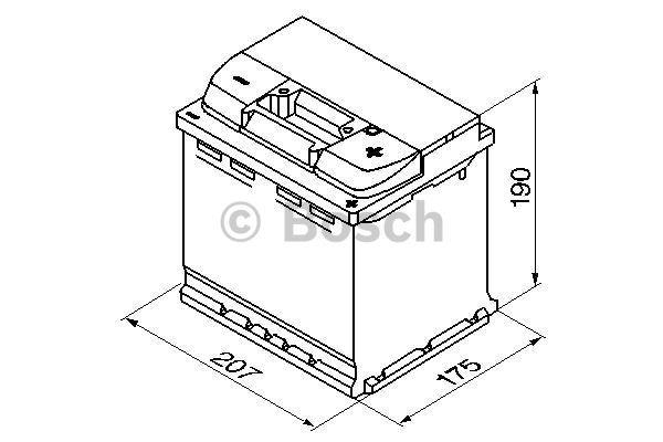 Батарея аккумуляторная Bosch S4 002 12В 52Ач 470A(EN) R+ Bosch 0 092 S40 020 - фото 11