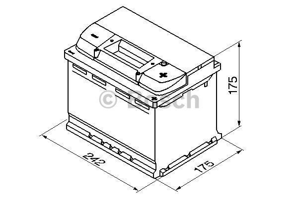 Батарея аккумуляторная Bosch S4 004 12В 60Ач 540A(EN) R+ Bosch 0 092 S40 040 - фото 12