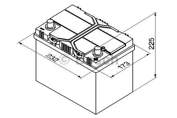 Батарея аккумуляторная Bosch S4 024 12В 60Ач 540A(EN) R+ Bosch 0 092 S40 240 - фото 10