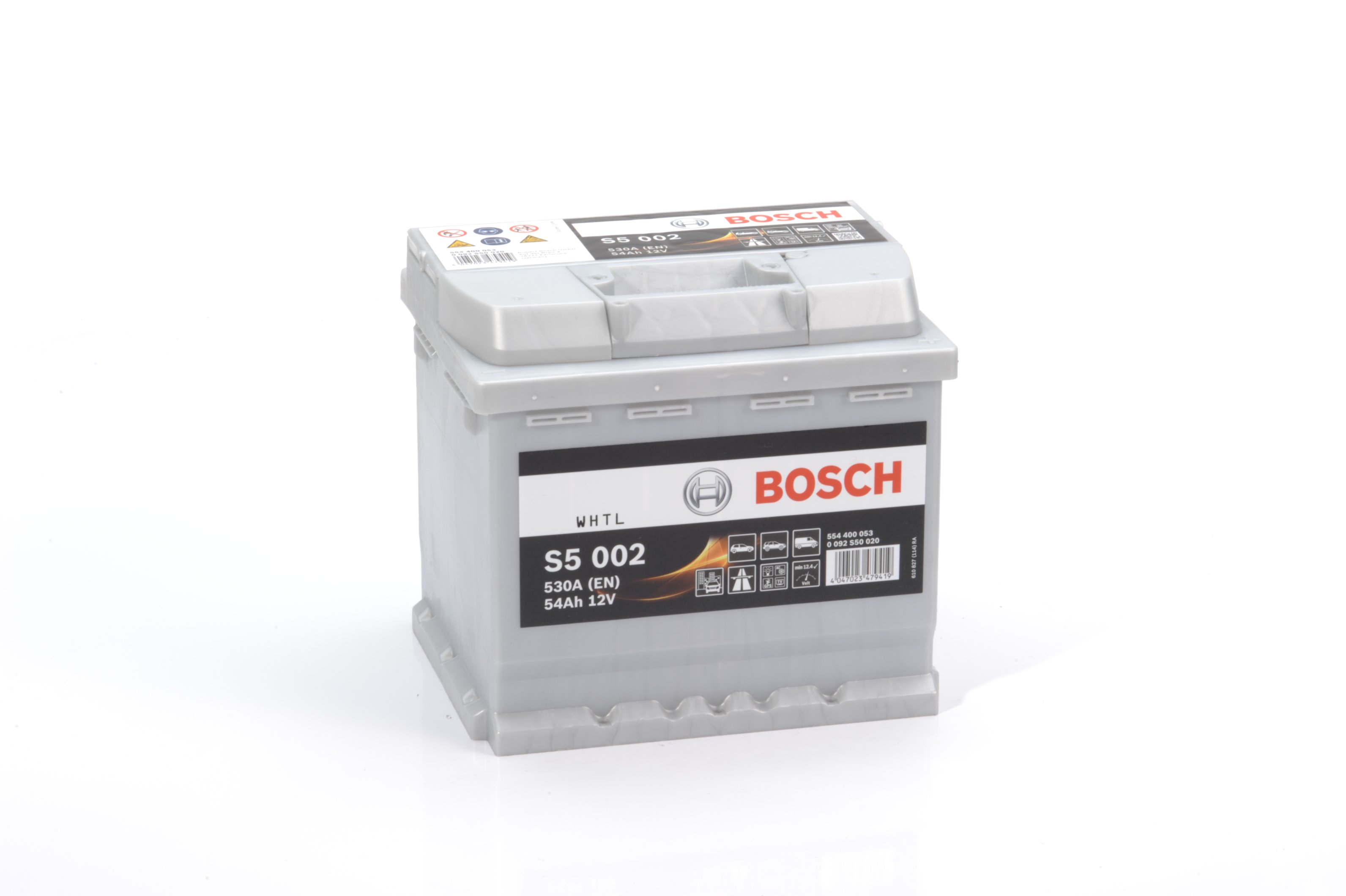 Батарея аккумуляторная Bosch S5 002 12В 54Ач 530A(EN) R+ Bosch 0 092 S50 020 - фото 9