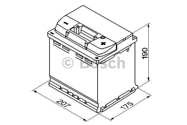 Батарея аккумуляторная Bosch S5 002 12В 54Ач 530A(EN) R+ Bosch 0 092 S50 020 - фото 4
