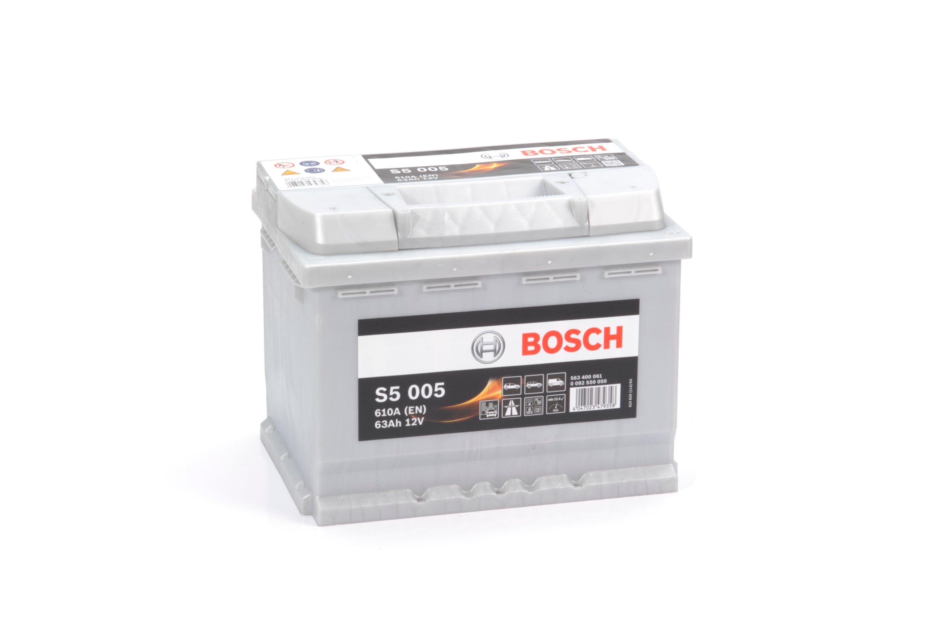 Батарея аккумуляторная Bosch S5 005 12В 63Ач 610A(EN) R+ Bosch 0 092 S50 050 - фото 7
