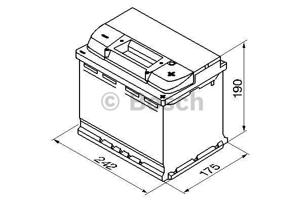 Батарея аккумуляторная Bosch S5 005 12В 63Ач 610A(EN) R+ Bosch 0 092 S50 050 - фото 12