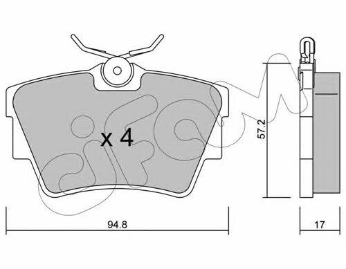Колодки тормозные дисковые, комплект Cifam 822-635-0