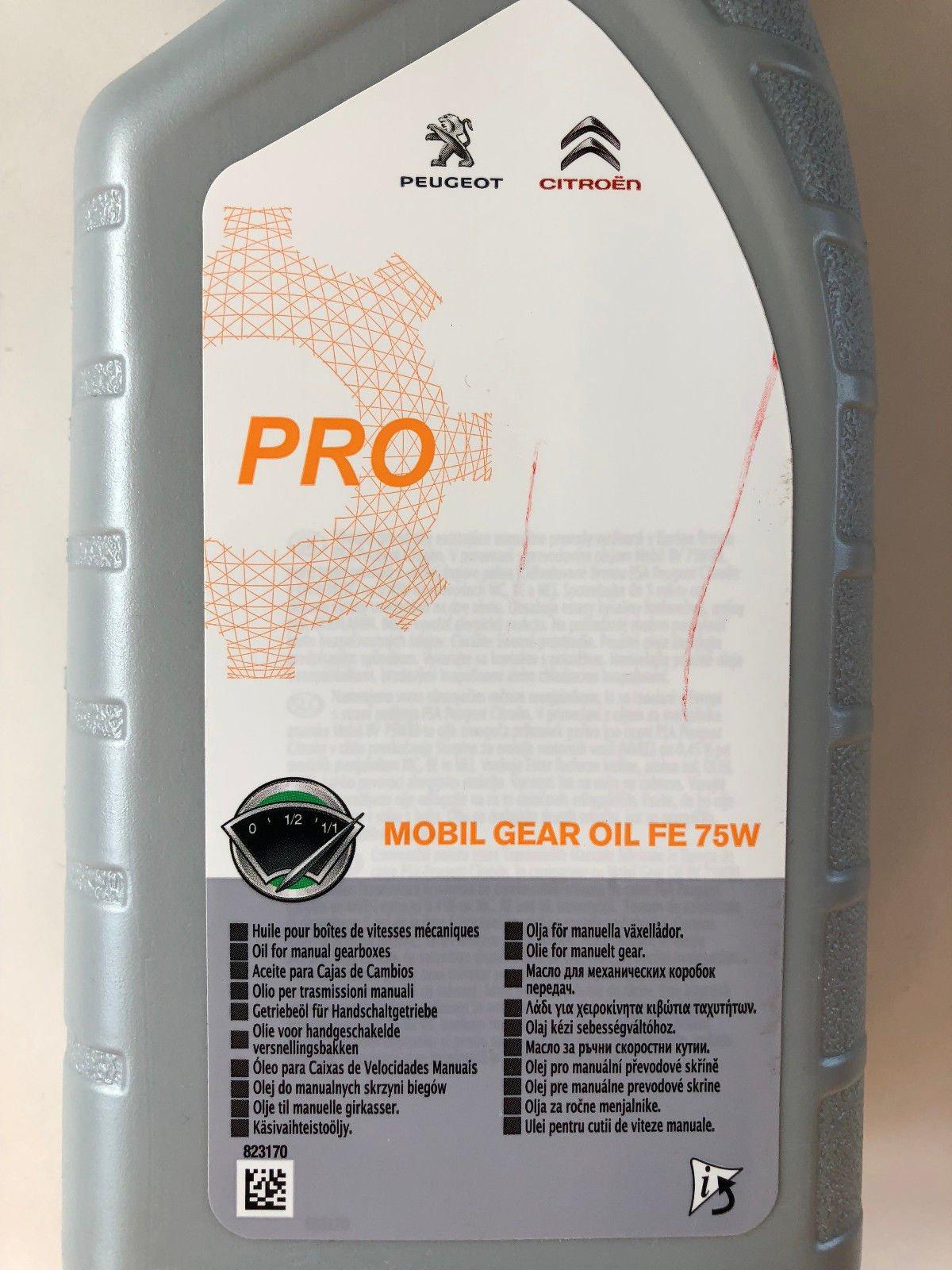 Масло трансмиссионное Citroen/Peugeot Mobil Gear Oil FE 75W, 1 л