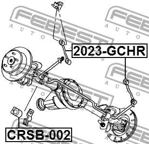 Втулка стабилизатора заднего Febest CRSB-002 - фото 3