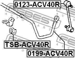 Втулка стабилизатора заднего Febest TSB-ACV40R - фото 4