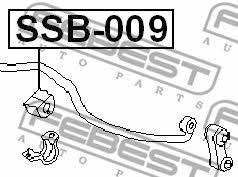Втулка стабилизатора переднего Febest SSB-009 - фото 5