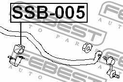 Втулка стабилизатора переднего Febest SSB-005 - фото 5