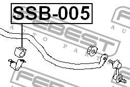 Втулка стабилизатора переднего Febest SSB-005 - фото 3