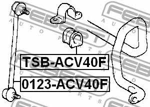 Втулка стабилизатора переднего Febest TSB-ACV40F - фото 4