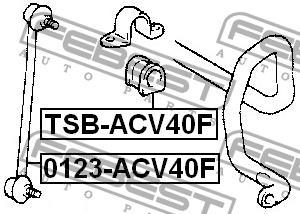 Втулка стабилизатора переднего Febest TSB-ACV40F - фото 3