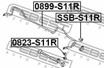 Втулка стабилизатора заднего Febest SSB-S11R - фото 5