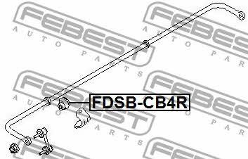 Втулка стабилизатора заднего Febest FDSB-CB4R - фото 4