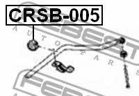 Втулка стабилизатора переднего Febest CRSB-005 - фото 4