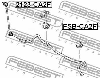 Втулка стабилизатора переднего Febest FSB-CA2F - фото 5