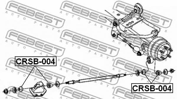 Втулка стабилизатора Febest CRSB-004 - фото 4