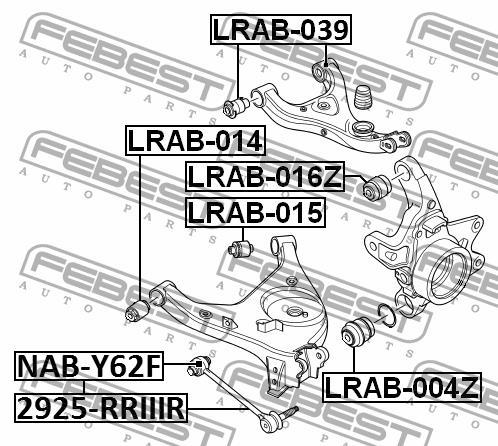 Сайлентблок заднего нижнего рычага Febest LRAB-014 - фото 5
