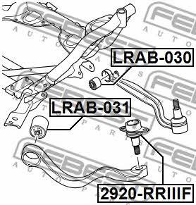 Сайлентблок переднего рычага Febest LRAB-031 - фото 5