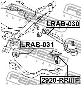 Сайлентблок переднего рычага Febest LRAB-031 - фото 3