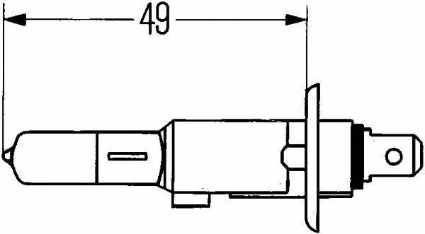 Лампа галогенная H1 24V 70W