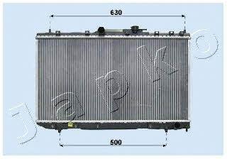 Радиатор охлаждения двигателя Japko RDA153007
