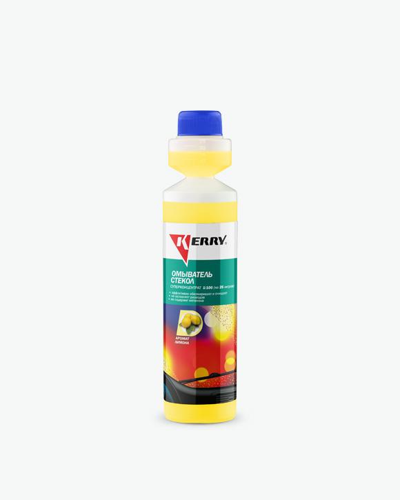 Жидкость омывателя стекла, летняя, концентрат, аромат лимон, 0,270 л