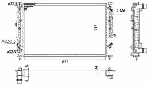 Радиатор охлаждения двигателя Magneti marelli 350213739003