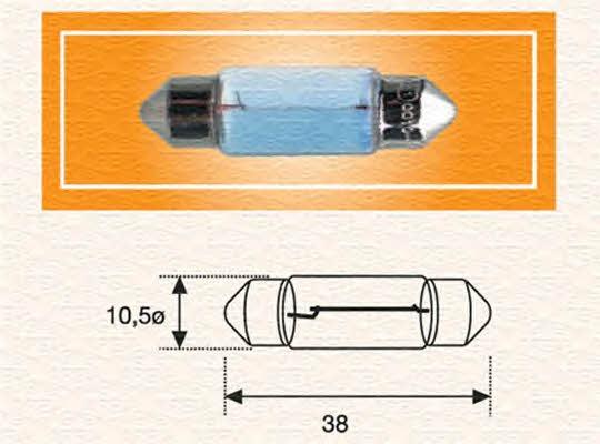 Лампа накаливания C5W 12V 5W Magneti marelli 009418100000