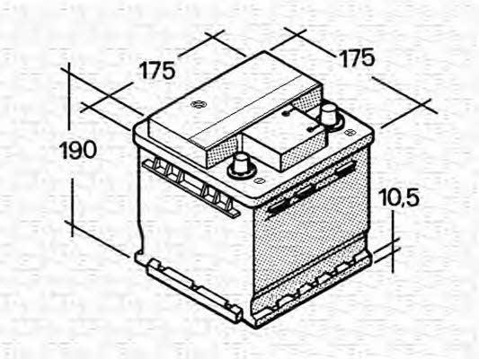 Батарея аккумуляторная Magneti marelli 12В 40Ач 300A(EN) R+