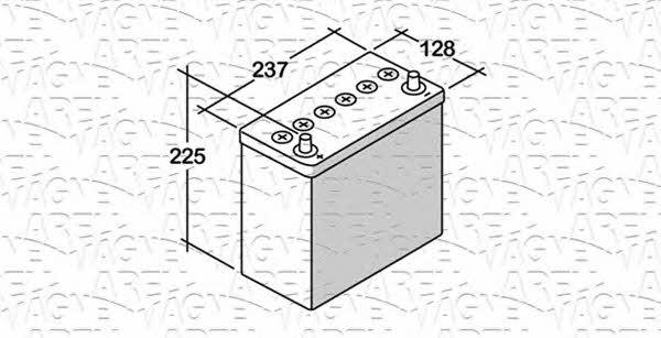Батарея аккумуляторная Magneti marelli 12В 45Ач 300A(EN) L+