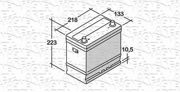 Батарея аккумуляторная Magneti marelli 12В 45Ач 330A(EN) L+