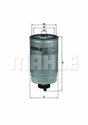 Фильтр топливный Mahle/Knecht KC 140