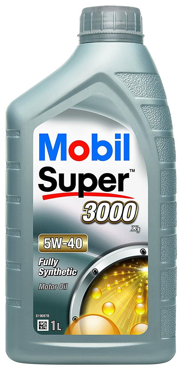 Масло моторное Mobil  Super 3000 X1 5W-40, 1 л Mobil 152567