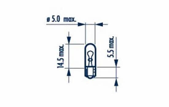 Лампа накаливания W1,2W 12V 1,2W Narva 17037