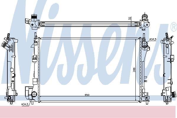 Радиатор охлаждения двигателя Nissens 63022A