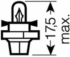 Лампа накаливания BAX 12V 1,2W Osram 2351 MFX6