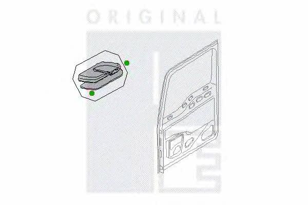 Зеркало рампы PE Automotive 2141-11060-0462-01