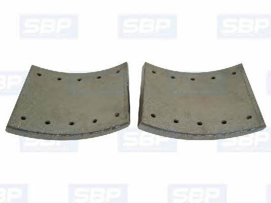 Накладки тормозные, комплект SBP 07-L19032-N20