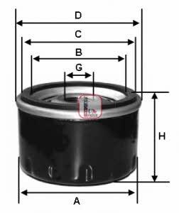 Фильтр масляный Sofima S 3253 R