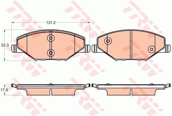 Колодки тормозные дисковые, комплект TRW GDB2027