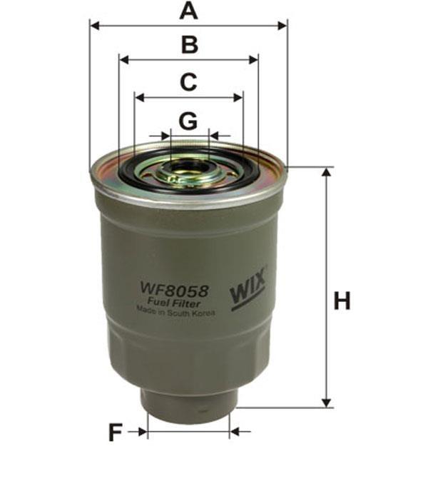 Фильтр топливный WIX WF8058